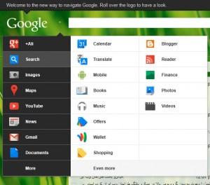 google-menu