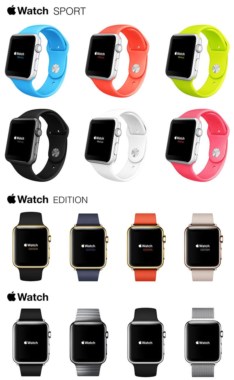 Apple Watch Free Mockups Kit