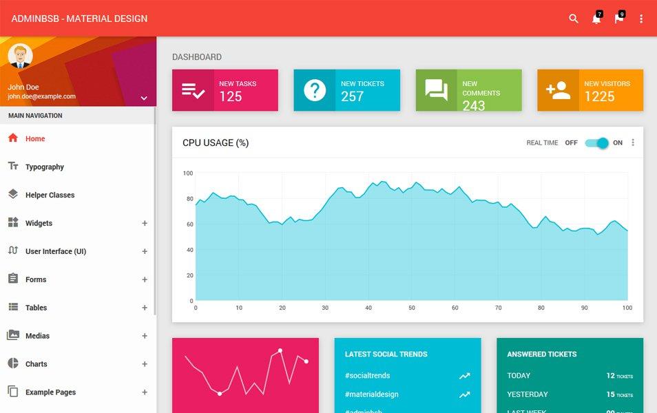 AdminBSB - Material Design