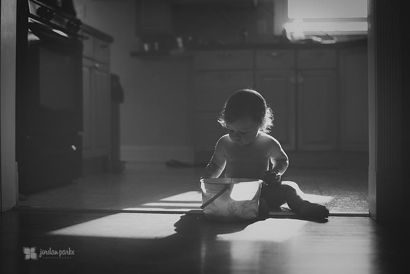 baby on kitchen floor
