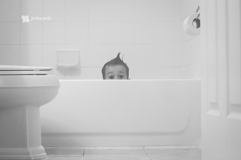 boy in bathtub