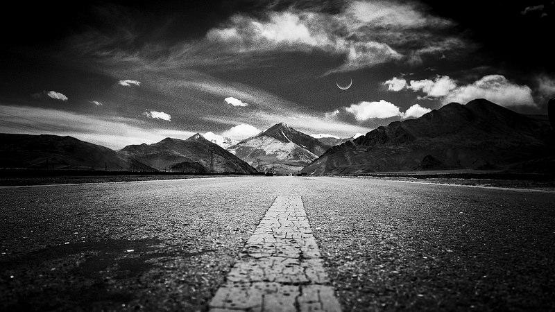 long empty road