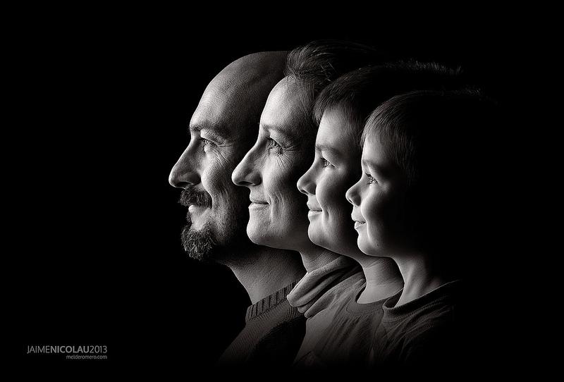 family portrait black and white