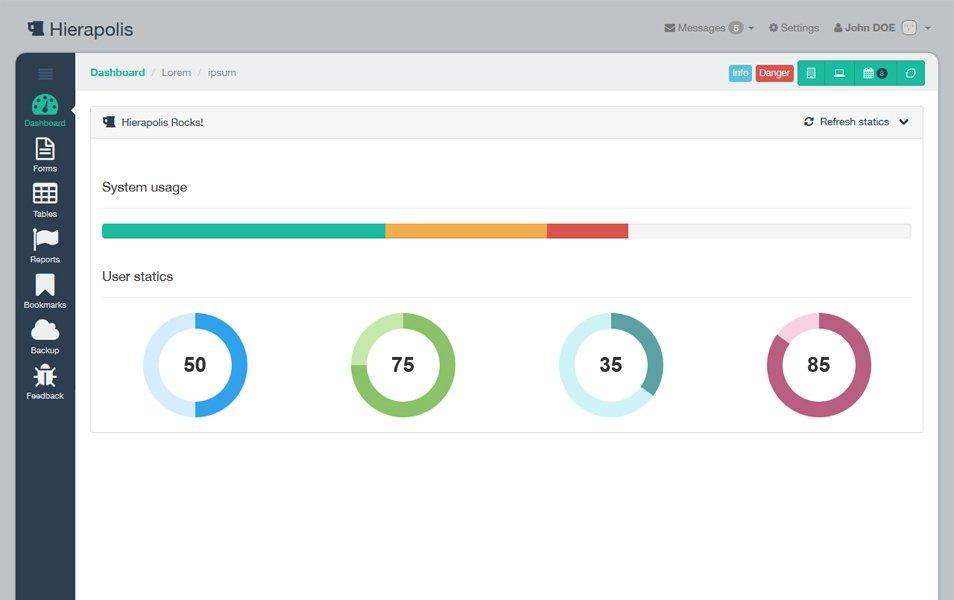 Hierapolis - Bootstrap 3 Flat Style Admin Theme