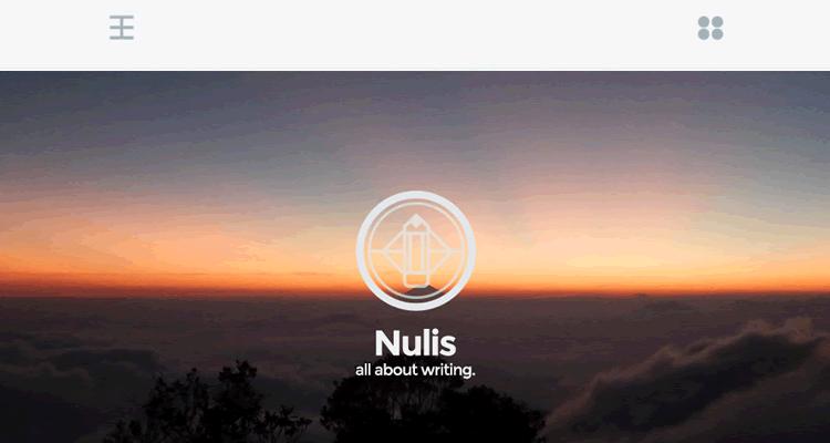 Nulis minimal free wordpress single-column theme personal blogging