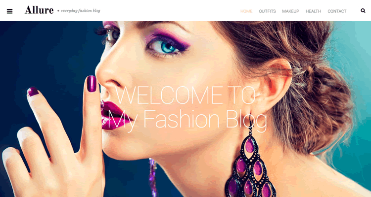 Allure wordpress theme free wordpress specifically built fashion bloggers photographers