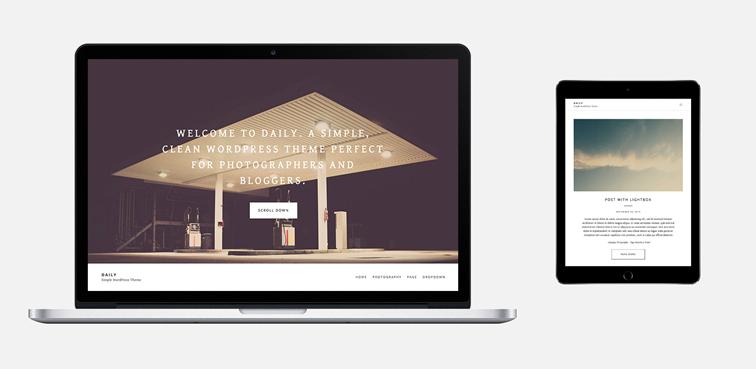Daily wordpress minimal portfolio blogger theme