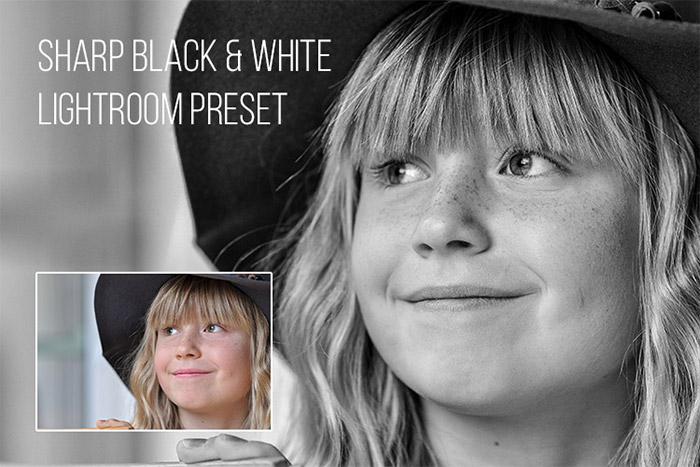 Sharp Black & White Lightroom Presets