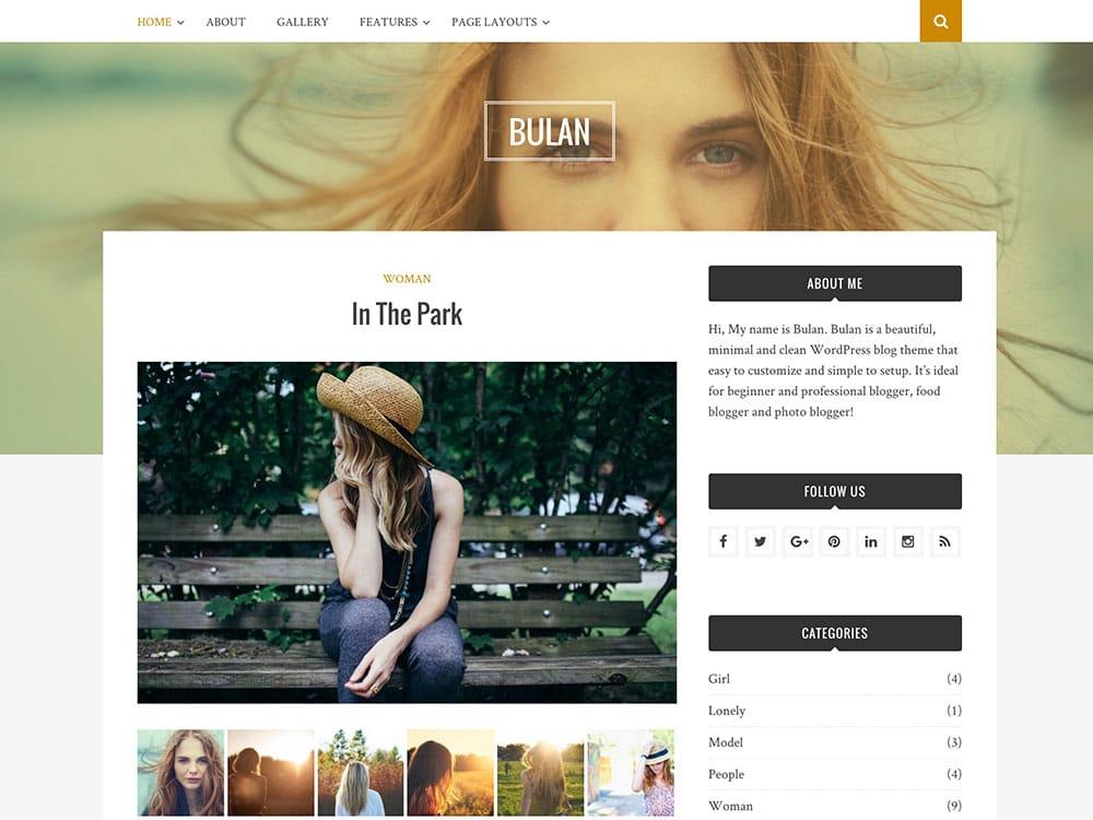 Bulan-Free-WordPress-Theme