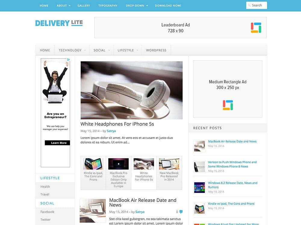 Delivery-Lite-Free-Responsive-WordPress-Theme