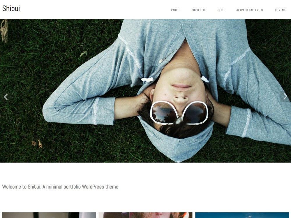 shibui minimal portfolio wordpress theme